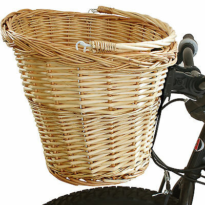 Pedalpro Quick Release Bicycle Wicker Shopping Basket Carry Handle Bike/cycle