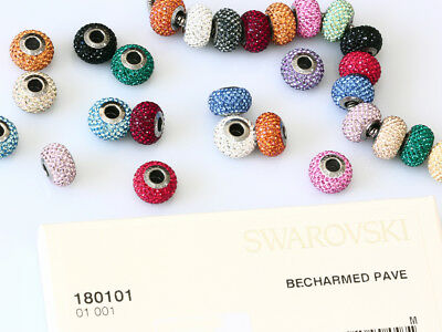 Genuine SWAROVSKI 80101 BeCharmed Pave Crystal Beads 14mm * Many Colors