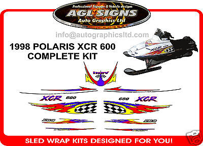1998 POLARIS INDY XCR 600 HOOD DECALS graphics reproductions