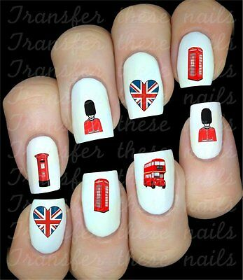british anglais royaume uni Stickers autocollant ongles manucure nail art