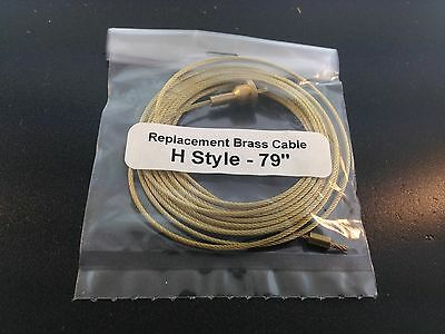 """79"""" Brass Cable for the Hermle Clock Movements"""