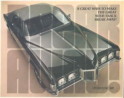 1969 Pontiac Brochure Grand Prix Firebird GTO Lemans mx1174-KDP2UH