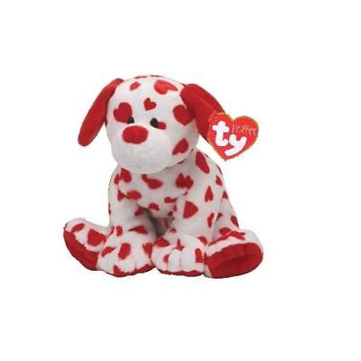Ty Beanie Babies 32132 Pluffies Baby Safe Hearts Dog