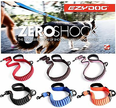 "EzyDog Zero Shock Absorbing Dog Lead Strong Nylon Leash 48"" Ezy Dog Leads NEW"