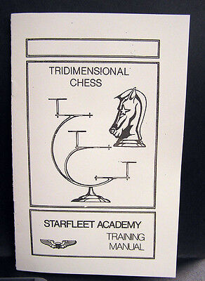 Vintage Star Trek Tridimensional (3-D) Chess Rules Booklet- FREE S&H