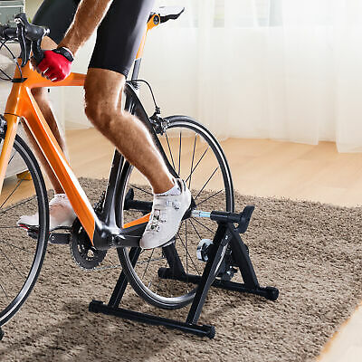 Soozier Indoor Bicycle Trainer Stand Support Workout Exercise Exercise Black