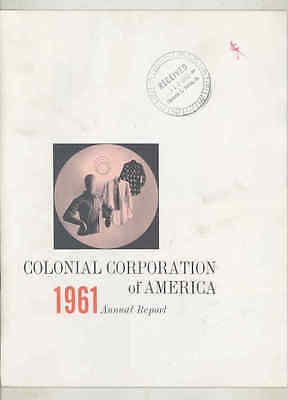 1961 Colonial Corporation of America Annual Report Brochure wt6678
