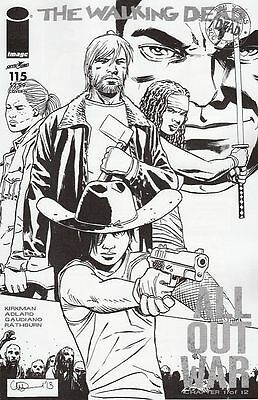 The Walking Dead #115. Midnight Release B&w Variant. Boarded (Image Comics) Hot!