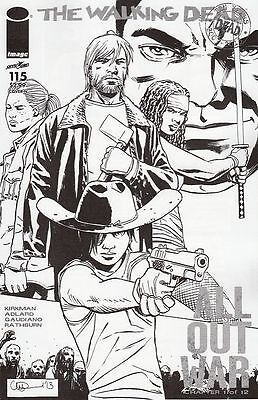 The Walking Dead #115 Midnight Release B&w Variant(Image Comics)