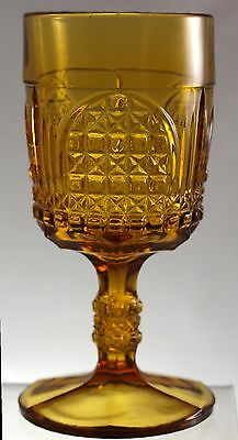 EAPG - Bryce Bros. - CATHEDRAL - Amber Goblet