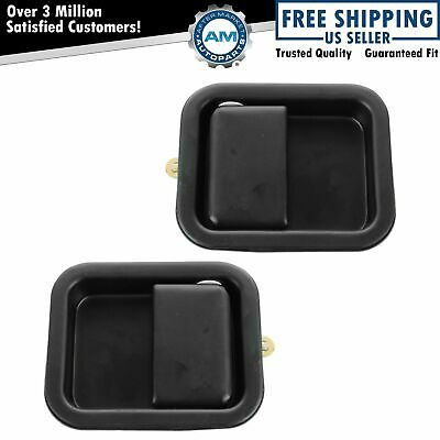 Door Handles Outside Exterior Front LH & RH Pair Set for 97-06 Jeep Wrangler