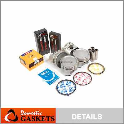 .50 for 93-99 2.4L Eclipse Expo Galant Colt Summit 4G64 Upgraded Pistons+Rings