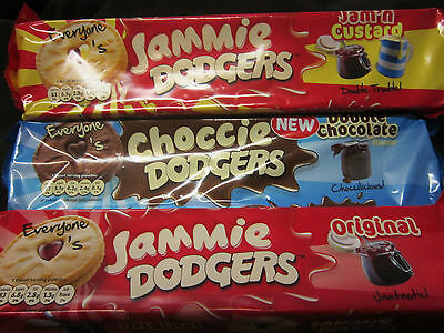 Pack Jammie Dodgers - 5 Types Available - British Biscuits- Ship World Wide