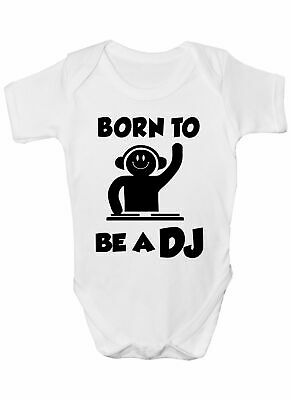 Born To Be A DJ Music Babygrow Vest Baby Clothing Funny Gift