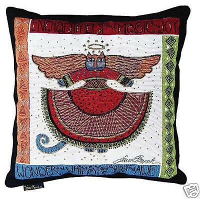 Laurel Burch Angelicat Angel Cats Square Decorative Tapestry Throw Pillow NWT