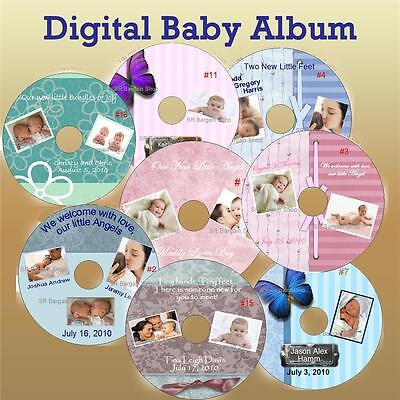 Baby Album Digital Personalized CDs & DVDs NOT a LABEL Baby Announcement Cards