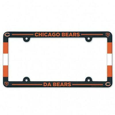 Chicago Bears Color Car Auto Plastic License Plate Tag Frame Nfl Football
