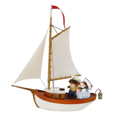 BREEZING ALONG by Wee Forest Folk, WFF# M-481 White Sailboat, Yellow Blanket