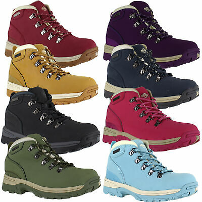 Womens NorthWest WaterProof Leather Lace Up Walking Hiking Boots UK Sizes 3 to 8