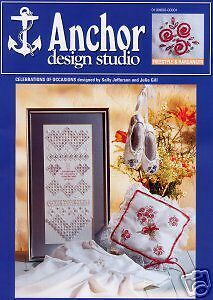 """Anchor Embroidery And Hardanger Chart Pattern Leaflet """"Celebration Of Occasions"""""""
