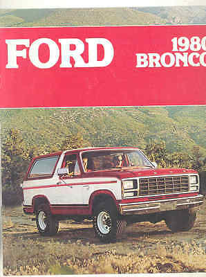 1980 Ford Bronco Brochure mx9085