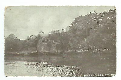 RPPC, undivided back, Kennebec (River) Banks, Boston Post Card Co.