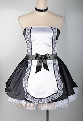 Sexy Women's French Maid Adults Costume Halloween Party Outfit One Size  WC 4161