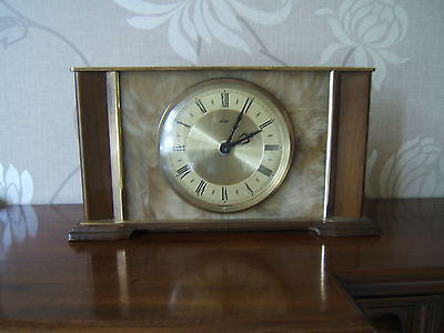 Vintage electric mantel clock by Matamec in England working  M16