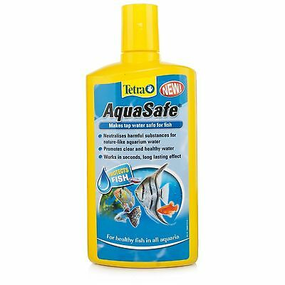 Tetra Aquasafe 500ml Water De-chlorinator Aquarium Tropical Fish Tap Safe