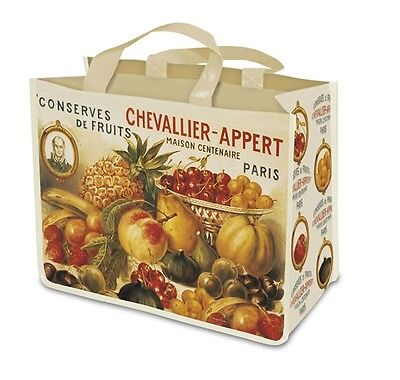 Large New Reuseable Shopping Bag Vintage French Advertising Fruit Preserves