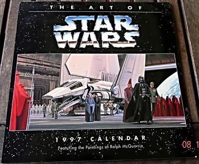 THE ART OF STAR WARS Calendar // 1997 / Excellent condition!