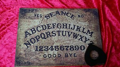 Wooden Ouija Board & Planchett Magic Old Baltic Oracle  spirit EVP ghost Seance