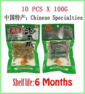 New 10 pcs X 100g Chinese food Pickled Peppers Vacuum-packed Spicy Chicken feet