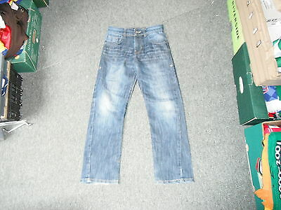 "Matalan Straight Leg Jeans Waist 27"" Leg 25"" Faded Dark Blue Boys 11Yrs Jeans"