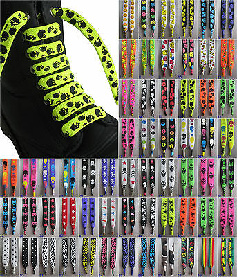 LACES Funky Flat Wide Thick Fat Chunky shoe boot trainer sneaker pattern fashion