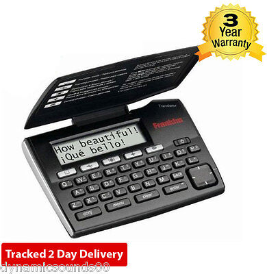 Franklin TES221 Electronic Spanish/English Phrasebook & Translator - Brand New