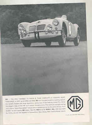 1957 MG MGA Race Car at Sebring Inskip Magazine Ad mx9158