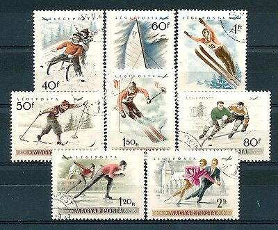"""No: 32242 - HUNGARY - LOT OF 5 OLD STAMPS """"SPORTS"""" - USED!!"""