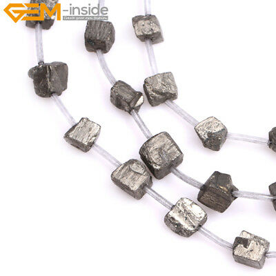 Natural Stone Freeform Nugget Chips Pyrite Gemstone Beads For Jewelry Making15""