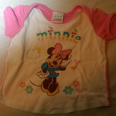 Children Pink Minnie Mouse Girls Girl T-shirt 9 - 12 Months - Great condidtion