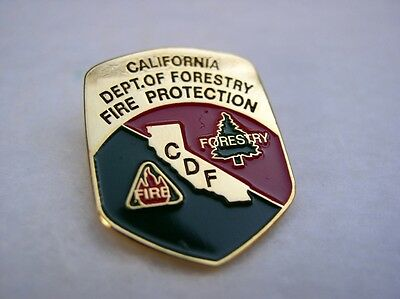 CDF CA CALIFORNIA DEPT FORESTRY FIRE PROTECTION BADGE HAT LAPEL PIN GIFT IDEA