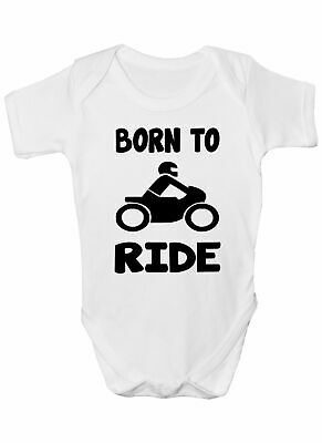 Born To Ride Motorbike Babygrow Vest Baby Clothing Funny Gift