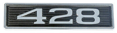 428 Mustang Black Chrome Plated Hood Scoop 3D Adhesive Backed Emblem