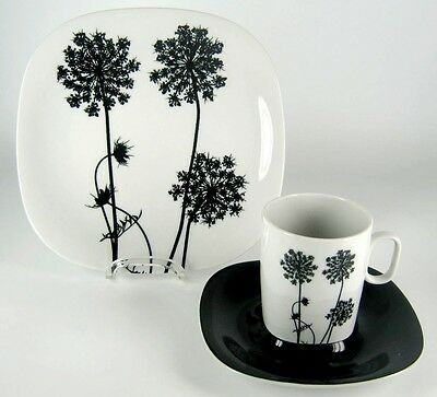 Langenthal Kaffeegedeck Transition Queen Anne's Lace Serie Black And White