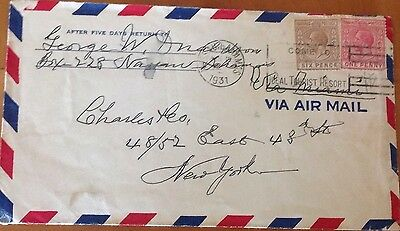 BAHAMAS 1931 COVER to NEW YORK with 7d RATE