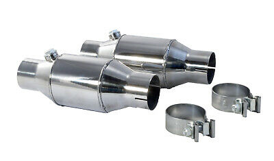 """1986-2010 Ford Mustang 2.5"""" PYPES High Flow Cats Catalytic Converters Pair"""