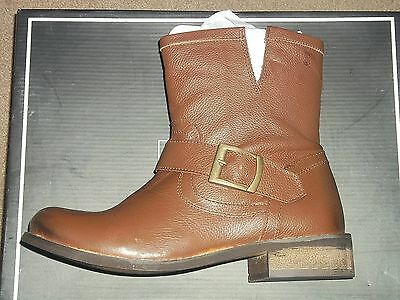 Mia RASCAL Tan Leat Harness Buckle Motorcycle Riding Anckle Boots Choose Size