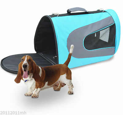 Pawhut Foldable Airline Pet Carrier Crates Dog Cat Booster Seat Comfort Mesh Bag