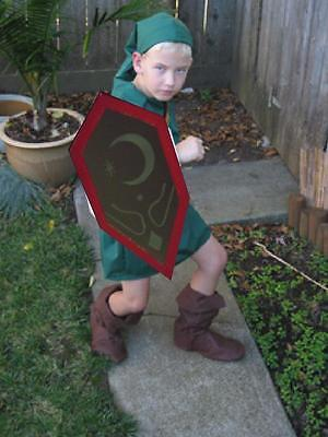 Link Costume MIRROR SHIELD kids Ocarina of Time Zelda Cosplay custom made in USA