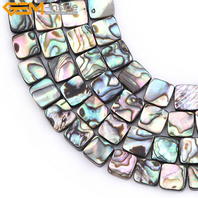 """Natural Genuine Abalone Shell Beads For Jewelry Making 15"""" Flat Clips Beads"""